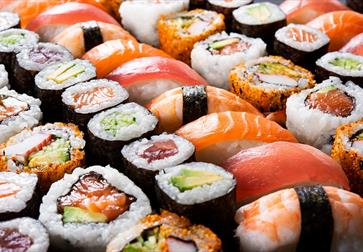 colourful sushi platter