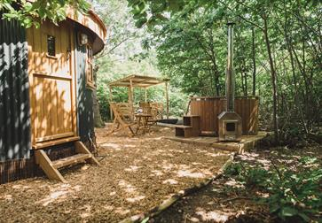 The Roundhouse at Swallowtail Hill glamping near Rye, East Sussex