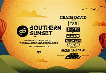 Southern Sunset Festival poster 7 August 2021