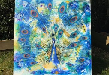 Painting of a peacock