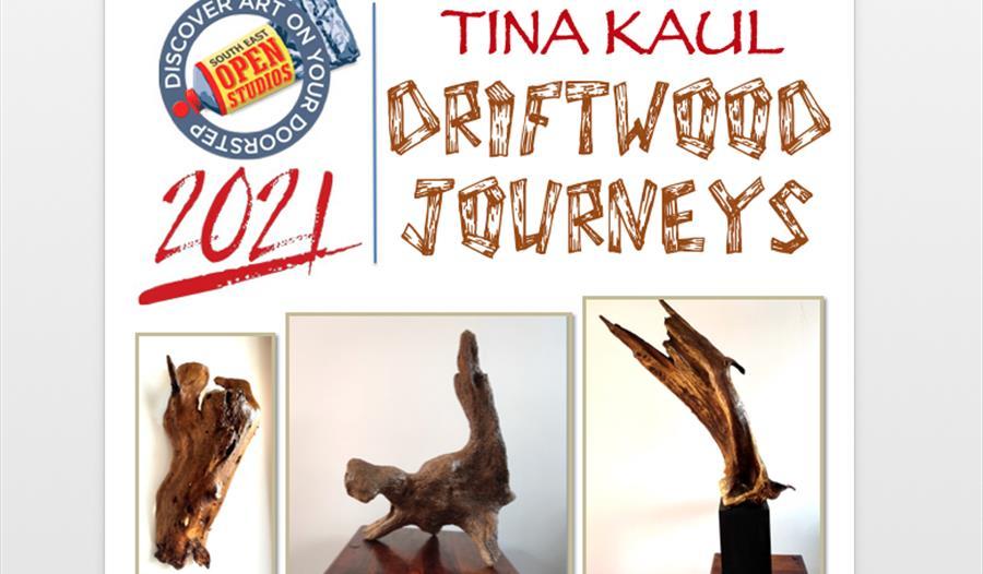 Tina Kaul - Driftwood Journeys Exhibition Poster