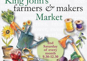 King John's farmers market poster Etchingham East Sussex