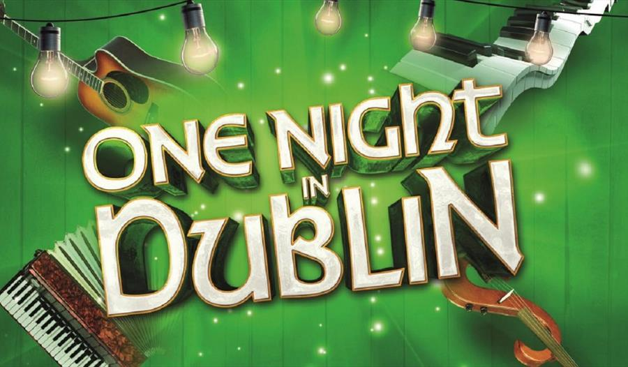 green poster with text 'one night in dublin'. Accordion and stings in background.