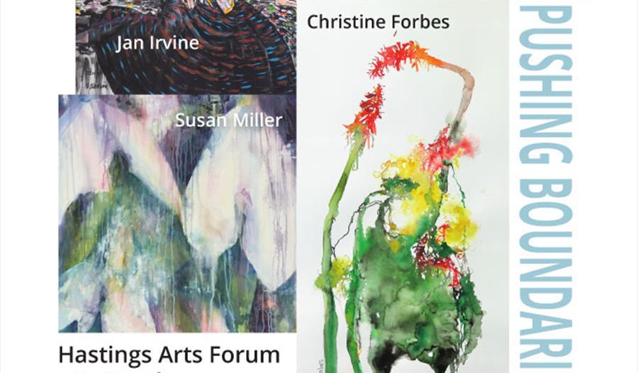 Pushing Boundaries at Hastings Arts Forum poster