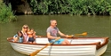 Rowing on the River Rother at Bodiam Boating Station, East Sussex