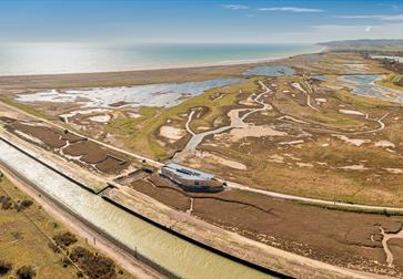 Shingle and salt Marsh at Rye Harbour