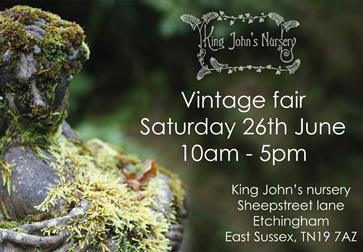 Vintage fair at King John's nursery