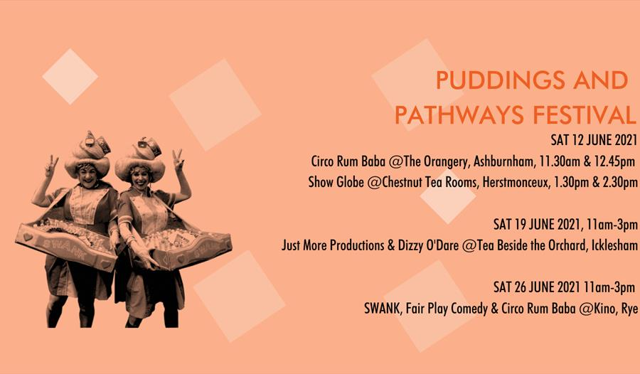 Puddings and Pathways Festival 19 June @ Tea beside the Orchard, Icklesham
