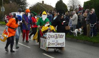 Participants in the Pagham Pram Race 2009