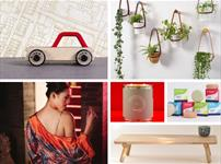 Four images: toys, plants, furniture, fashion