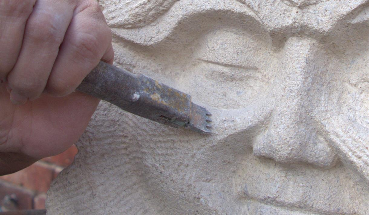 Stone carving workshops and courses in Staffordshire.