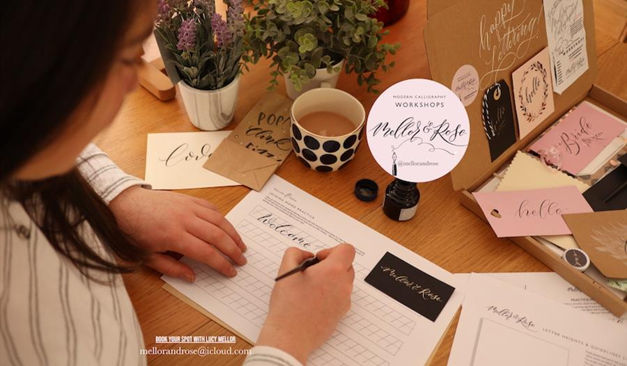 Modern Calligraphy Workshop with Mellor & Rose