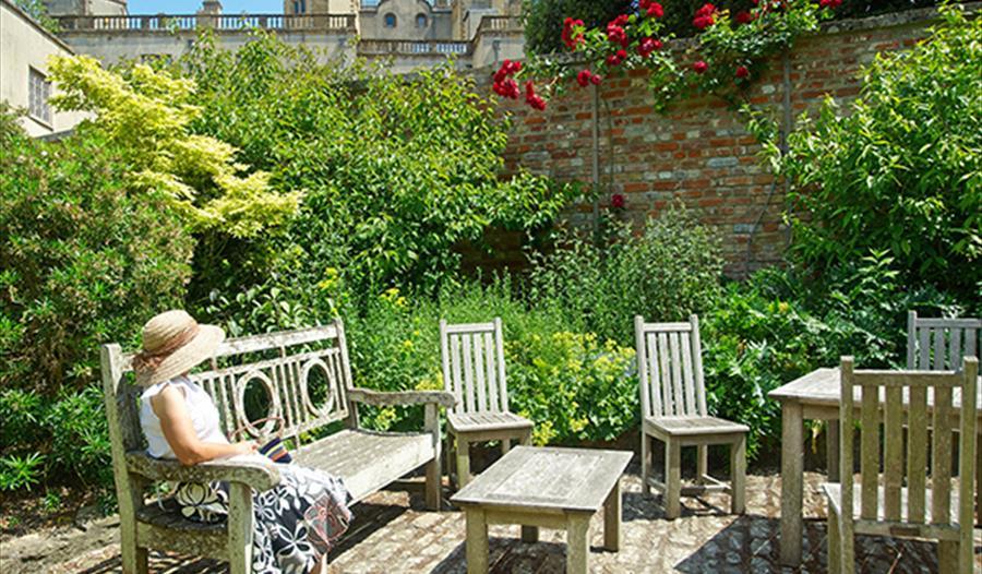 Sherborne Castle Tea Room Outside Seating