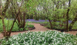 Woodland and formal Arts & Craft gardens designed by Walter Godfrey at The Garth Pleasure Grounds