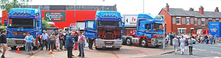 Heritage banner image featuring trucks