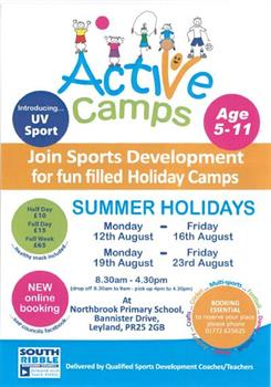 Active Camps 2019 Suummer Holidays