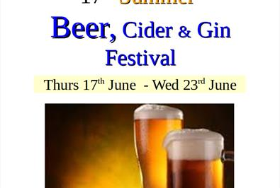 17th Annual Beer, Cider and Gin Festival