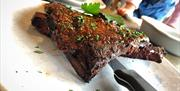meat, ribs, isle of man, boatyard, peel, dine out, eats, eatery, quayside, harbour view, marina,