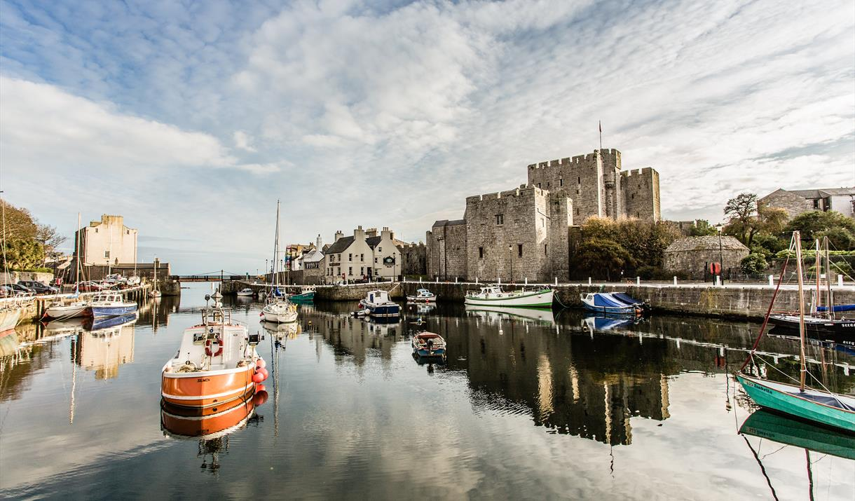 Castle Rushen across the Harbour