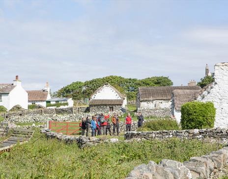 Group walking tour at Cregneash