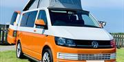 Orange campervan