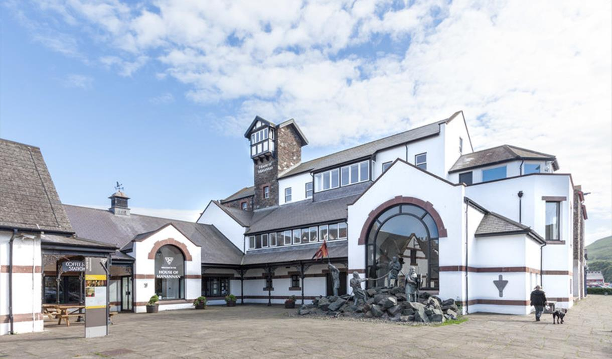 An image of the House of Manannan from the front of the building.