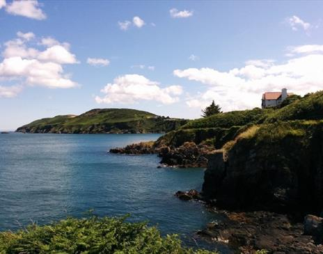 Coastal walks around the coves at Maughold