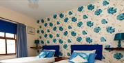 Room Three - Available as double or twin with shared bathroom and shower facilities with one other room.
