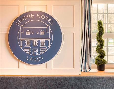 Shore Hotel Laxey Sign