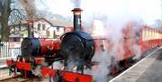 Steam Trains at Ballasalla Station