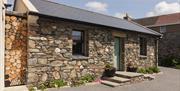 Front view, original Manx stone walling