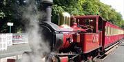 Isle of Man Railway train at Castletown Station