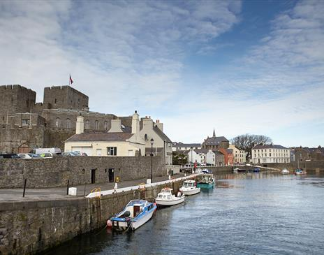 Castle Rushen and Harbour