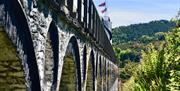 The viaduct at Laxey Wheel.