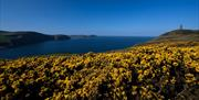 Views overlooking Port Erin bay and Milners Tower