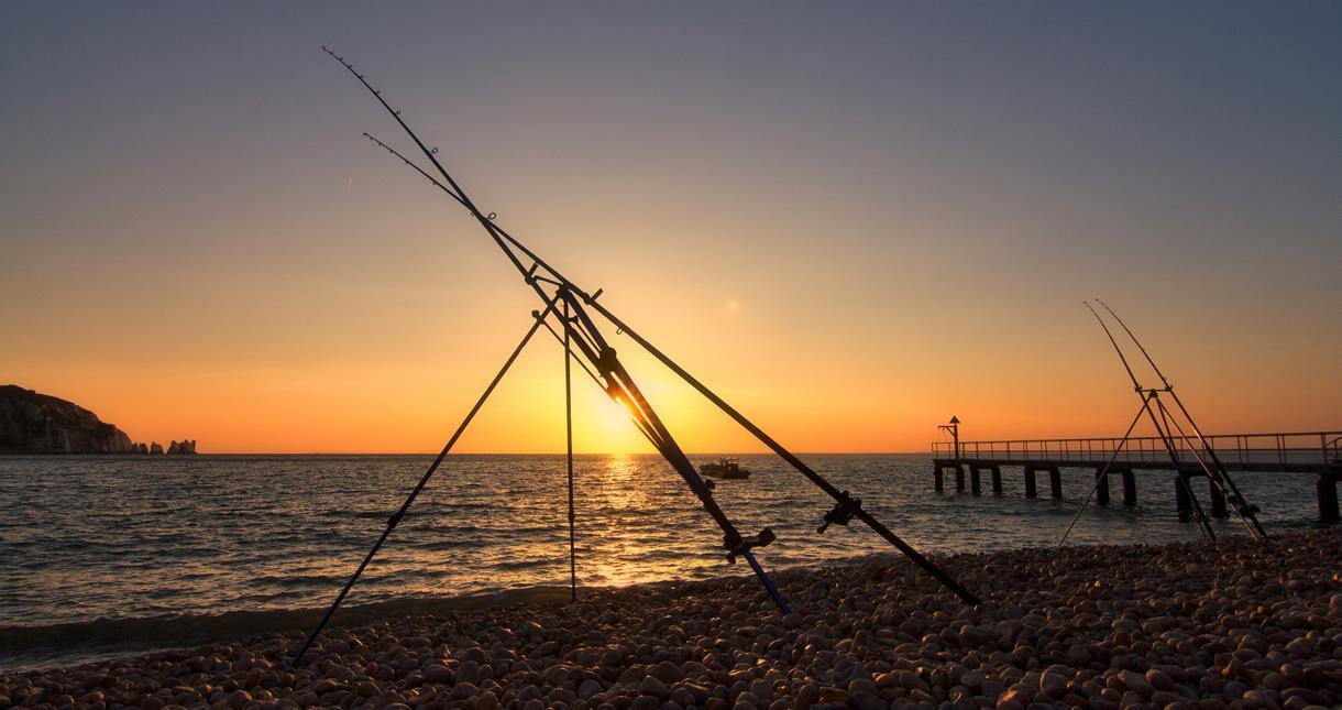 Fishing at The Needles