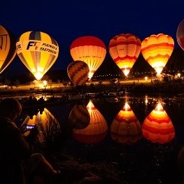 Hot air balloons at Robin Hill