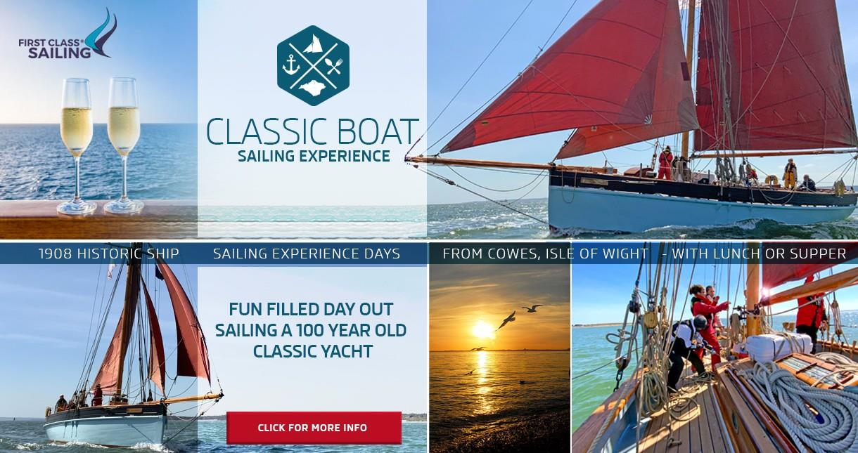 Classic Boat Sailing Experience from the Isle of Wight - First Class Sailing