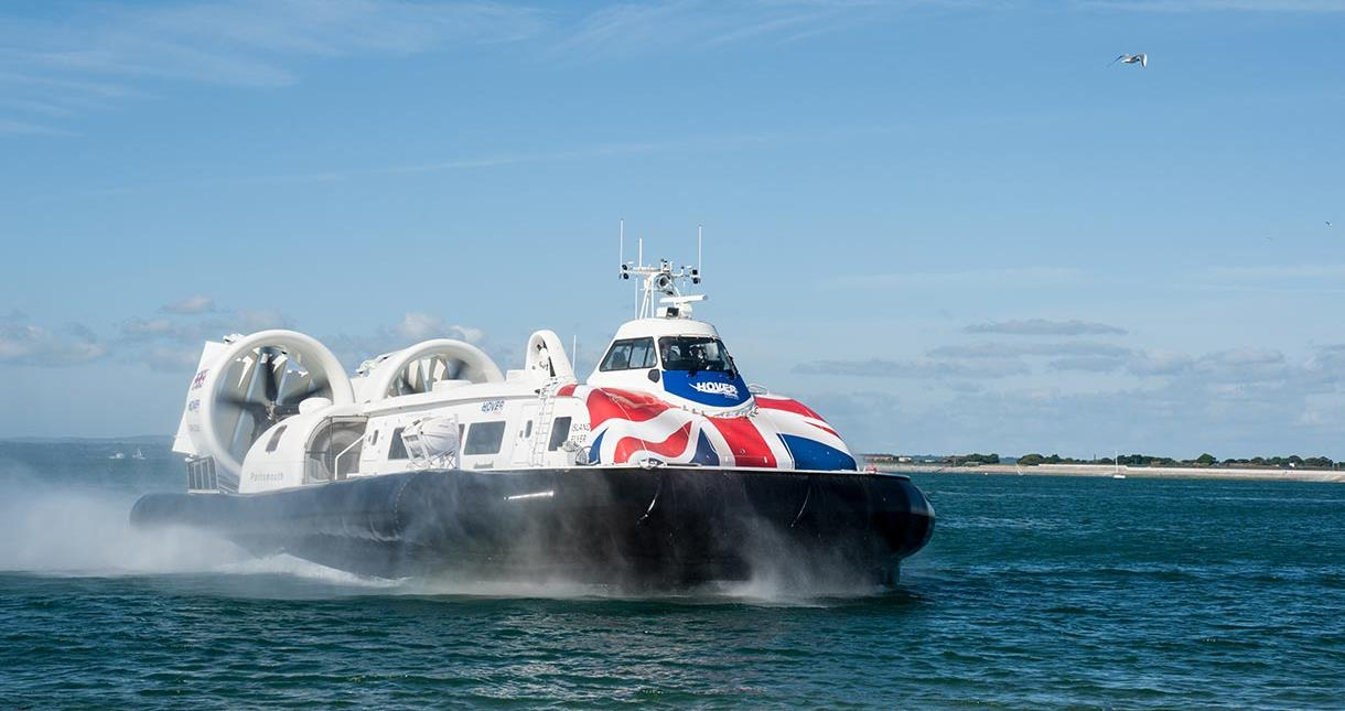 Hovercraft on the water
