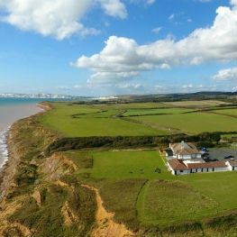 Aerial view of the Isle of Wight Pearl