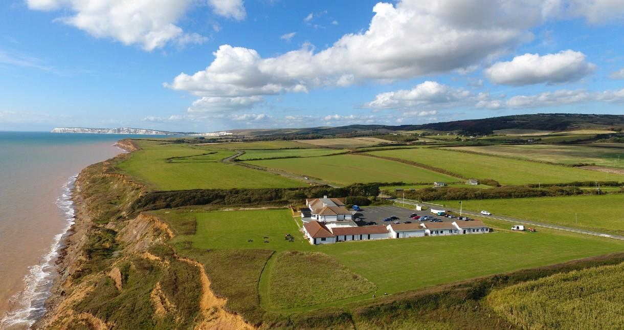 Aerial view of Isle of Wight Pearl in Brighstone