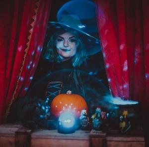 Wanda the Witch at Spooky Farm Fun at Tapnell Farm Park