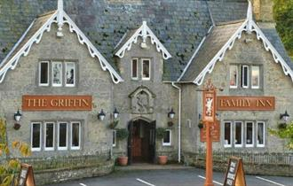 Outside view of The Griffin, Godshill, pub