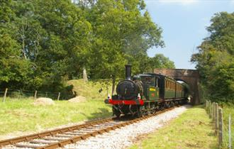 Isle of Wight, Things to Do, Isle of Wight Steam Railway, Events, Childrens/Family Fun, Image of steam locomotive  on track