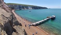 Aerial view of Alum Bay beach, Isle of Wight, Things to Do