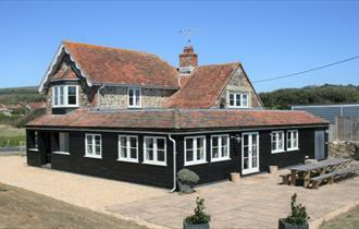 Isle of Wight, Accommodation, Greystone Cottage, Brook, View of the back of the Cottage