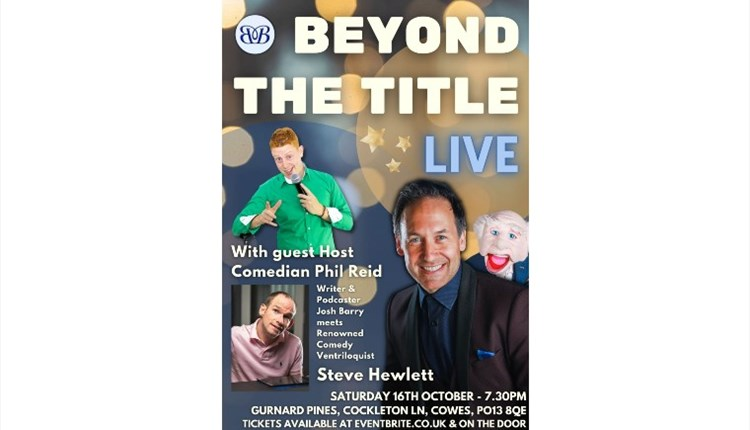 Isle of Wight, Things to Do, comedy, variety entertainment, Gurnard Pines, Cowes, poster