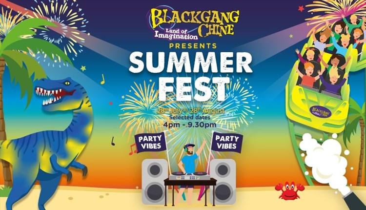 Isle of Wight, Blackgang Chine, Chale, Ventnor, Summer Fest Logo