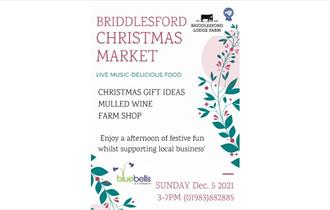 Briddlesford Christmas Market poster, Wootton, What's On, Isle of Wight