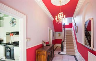 Hallway at Clevelands Country House in Wroxall - Isle of Wight Self-catering